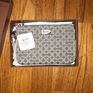 coach wristlet and box